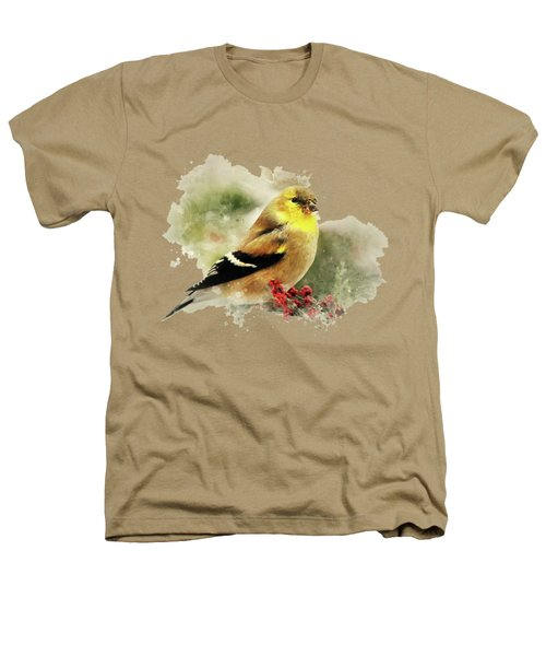 Goldfinch Watercolor Art Heathers T-Shirt