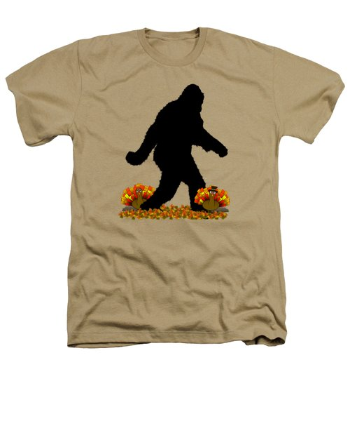 Gone Thanksgiving Squatchin' Heathers T-Shirt by Gravityx9   Designs
