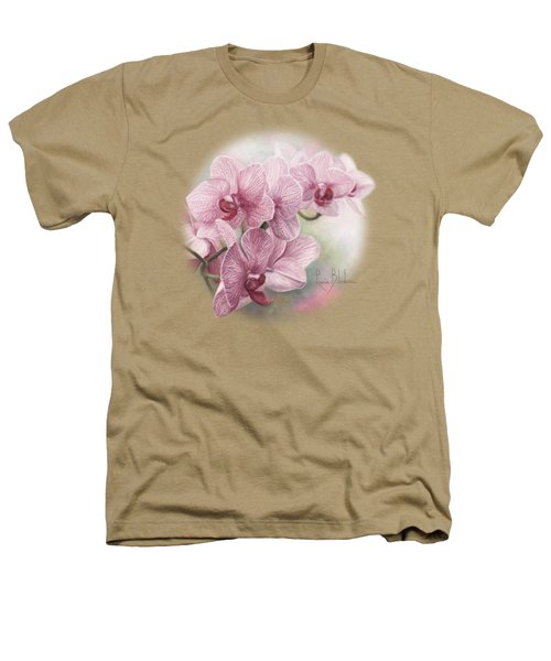 Graceful Orchids Heathers T-Shirt by Lucie Bilodeau
