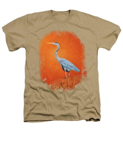 Great Blue Abstract 2 Heathers T-Shirt
