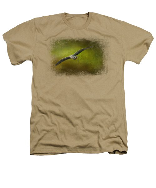 Great Blue Heron In The Grove Heathers T-Shirt by Jai Johnson