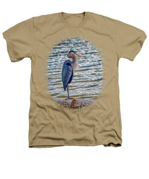 Great Blue Heron Heathers T-Shirt by John M Bailey