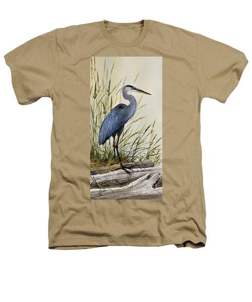 Great Blue Heron Splendor Heathers T-Shirt