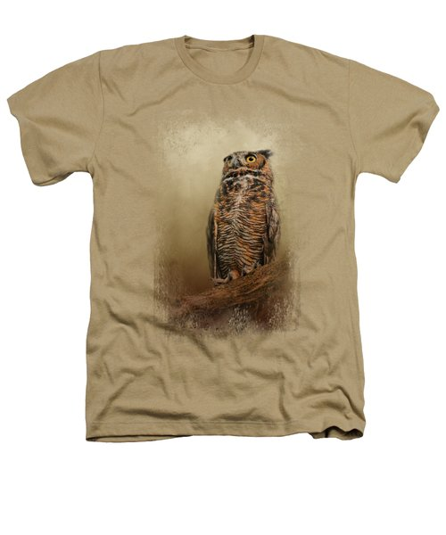 Great Horned Owl At Shiloh Heathers T-Shirt by Jai Johnson