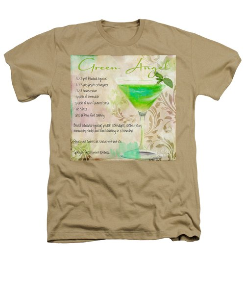Green Angel Mixed Cocktail Recipe Sign Heathers T-Shirt by Mindy Sommers