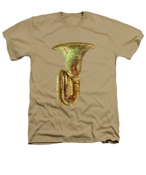 Green Horn Up On Black Heathers T-Shirt by YoPedro
