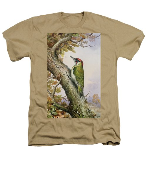 Green Woodpecker Heathers T-Shirt by Carl Donner