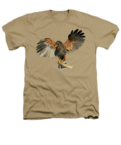 Hawk Flapping Wings Watercolor Painting Heathers T-Shirt