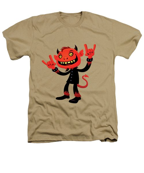 Heavy Metal Devil Heathers T-Shirt by John Schwegel