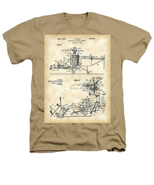 Helicopter Patent 1940 - Vintage Heathers T-Shirt