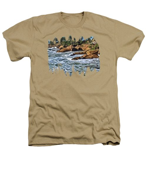 High Tide At Arch Rock Heathers T-Shirt