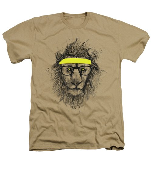 Hipster Lion Heathers T-Shirt by Balazs Solti
