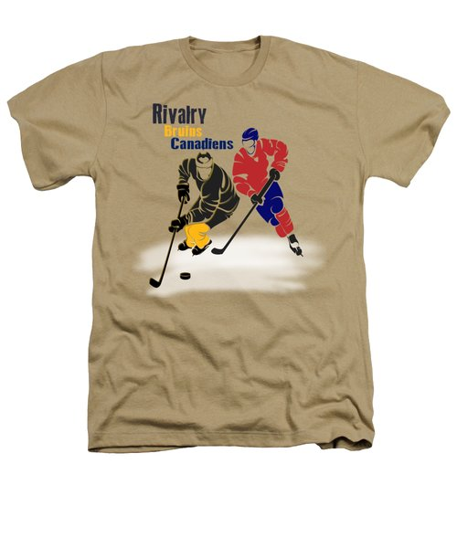 Hockey Rivalry Bruins Canadiens Shirt Heathers T-Shirt by Joe Hamilton