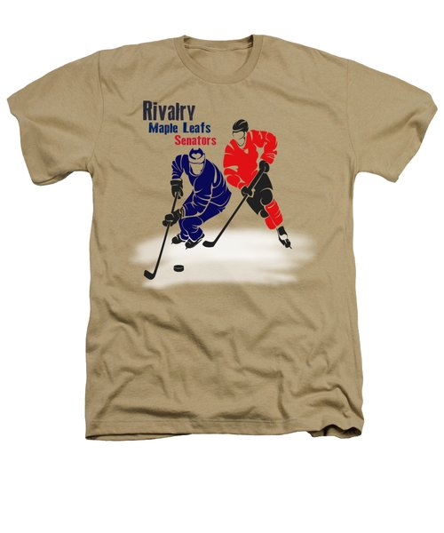 Hockey Rivalry Maple Leafs Senators Shirt Heathers T-Shirt by Joe Hamilton