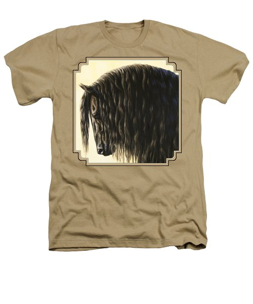 Horse Painting - Friesland Nobility Heathers T-Shirt by Crista Forest