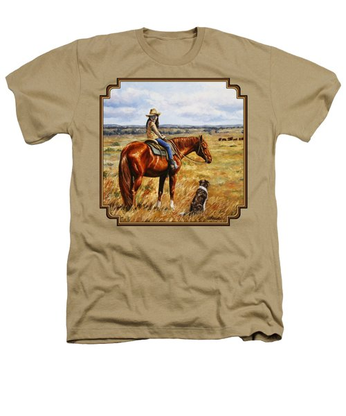 Horse Painting - Waiting For Dad Heathers T-Shirt