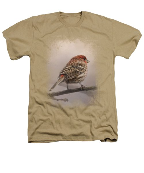 House Finch In January Heathers T-Shirt by Jai Johnson