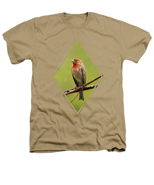 House Finch In The Rain Heathers T-Shirt