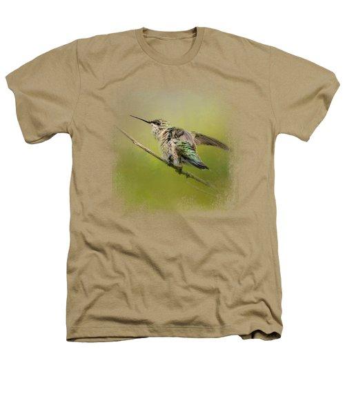 Hummingbird On Lime Heathers T-Shirt