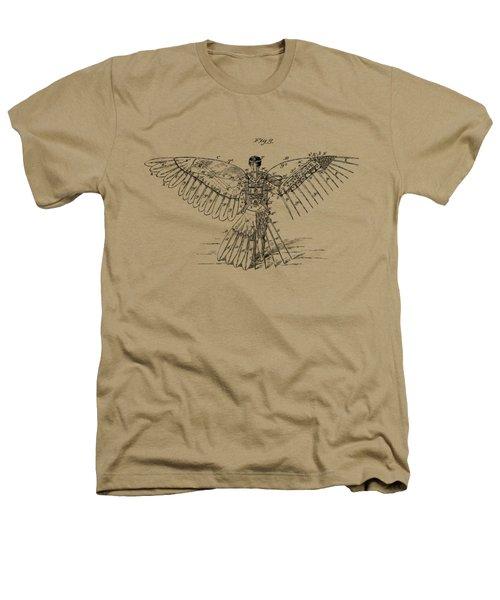 Icarus Human Flight Patent Artwork - Vintage Heathers T-Shirt