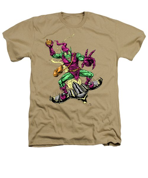 In Green Pursuit Heathers T-Shirt by John Ashton Golden