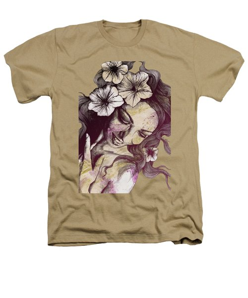 In The Year Of Our Lord - Wine - Smiling Lady With Petunias Heathers T-Shirt