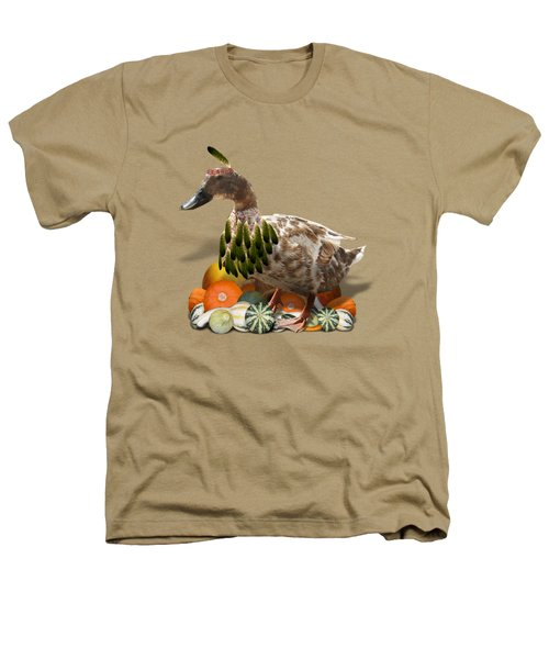 Indian Duck Heathers T-Shirt by Gravityx9 Designs