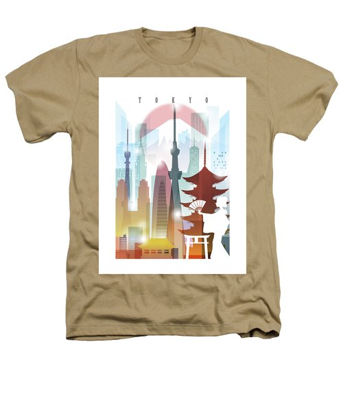 Japan Tokyo 2 Heathers T-Shirt by Unique Drawing