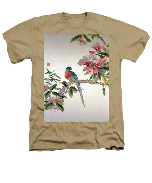 Jay On A Flowering Branch Heathers T-Shirt by Chinese School