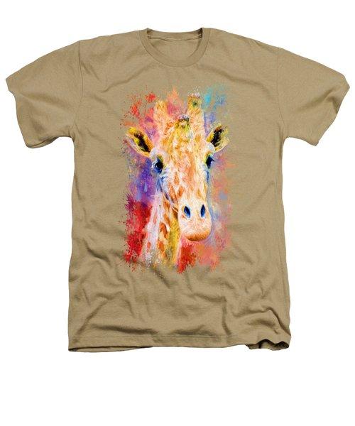 Jazzy Giraffe Colorful Animal Art By Jai Johnson Heathers T-Shirt