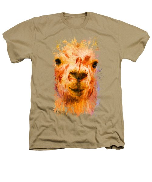 Jazzy Llama Colorful Animal Art By Jai Johnson Heathers T-Shirt by Jai Johnson