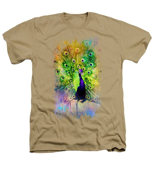 Jazzy Peacock Colorful Bird Art By Jai Johnson Heathers T-Shirt by Jai Johnson