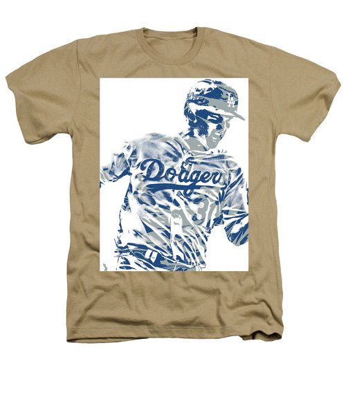 Joc Pederson Los Angeles Dodgers Pixel Art 10 Heathers T-Shirt