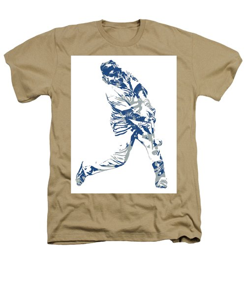 Justin Turner Los Angeles Dodgers Pixel Art 10 Heathers T-Shirt