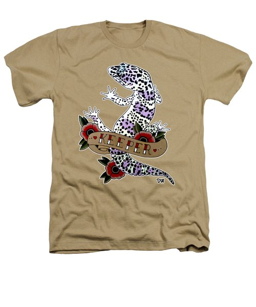 Keeper Leopard Gecko Heathers T-Shirt by Donovan Winterberg