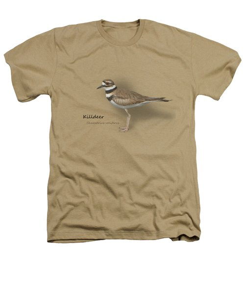 Killdeer - Charadrius Vociferus - Transparent Design Heathers T-Shirt by Mitch Spence
