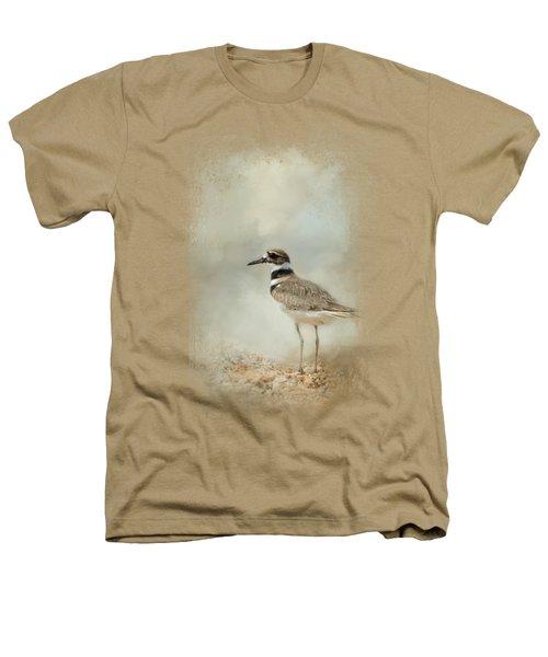 Killdeer On The Rocks Heathers T-Shirt by Jai Johnson