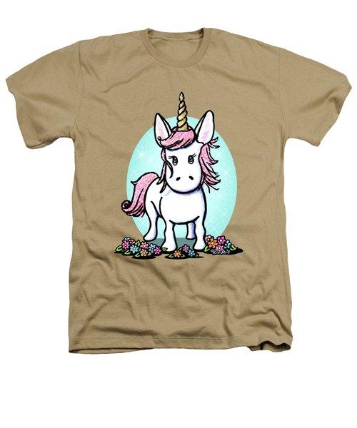Kiniart Unicorn Sparkle Heathers T-Shirt by Kim Niles