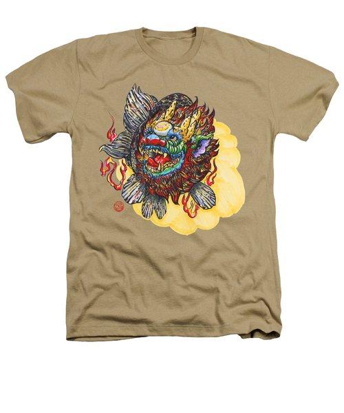 Kirin Head Ranchu Heathers T-Shirt by Shih Chang Yang