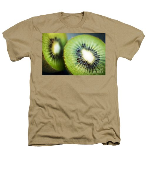 Kiwi Fruit Halves Heathers T-Shirt by Ray Laskowitz - Printscapes