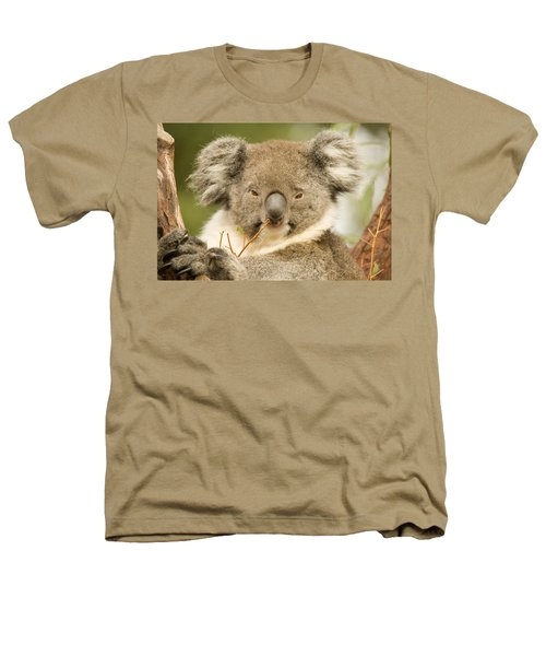 Koala Snack Heathers T-Shirt by Mike  Dawson