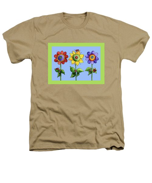 Ladybugs In The Garden Heathers T-Shirt by Shelley Wallace Ylst