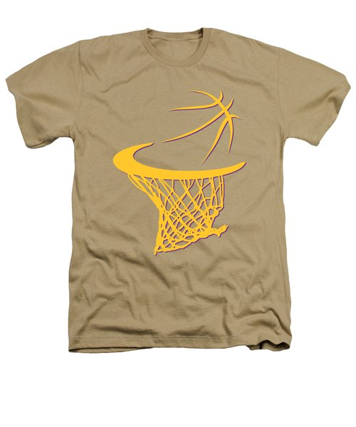 Lakers Basketball Hoop Heathers T-Shirt by Joe Hamilton