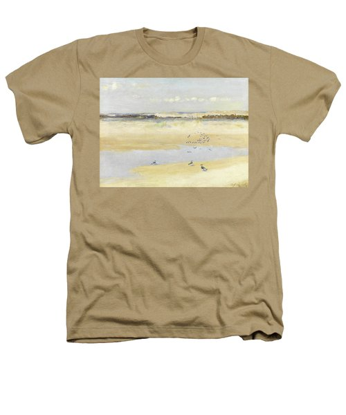 Lapwings By The Sea Heathers T-Shirt by William James Laidlay