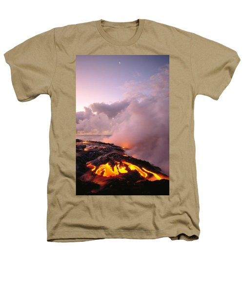 Lava Flows At Sunrise Heathers T-Shirt by Peter French - Printscapes