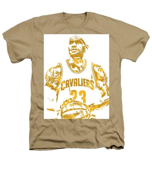 Lebron James Cleveland Cavaliers Pixel Art 8 Heathers T-Shirt
