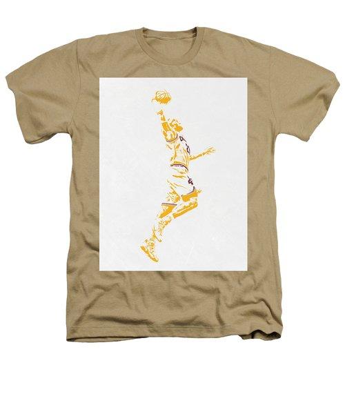 Lebron James Cleveland Cavaliers Pixel Art Heathers T-Shirt