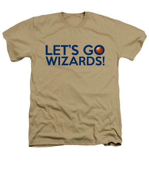 Let's Go Wizards Heathers T-Shirt by Florian Rodarte