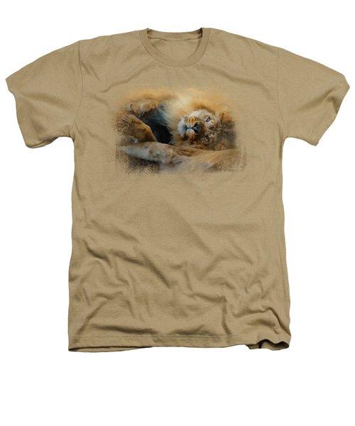 Lion Love 2 Heathers T-Shirt by Jai Johnson