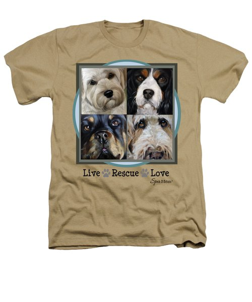 Live Rescue Love Heathers T-Shirt